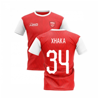 2020-2021 North London Home Concept Football Shirt (XHAKA 34)