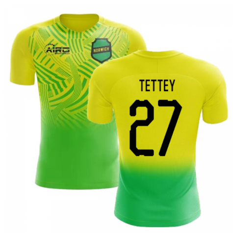 2019-2020 Norwich Home Concept Football Shirt (Tettey 27)