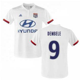 2019-2020 Olympique Lyon Adidas Home Football Shirt (Kids) (DEMBELE 9)