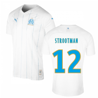 2019-2020 Olympique Marseille Puma Home Football Shirt (Kids) (STROOTMAN 12)