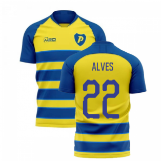 2020-2021 Parma Home Concept Football Shirt (ALVES 22)