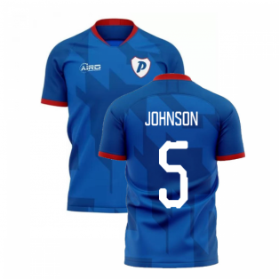 2020-2021 Portsmouth Home Concept Football Shirt (Johnson 5)