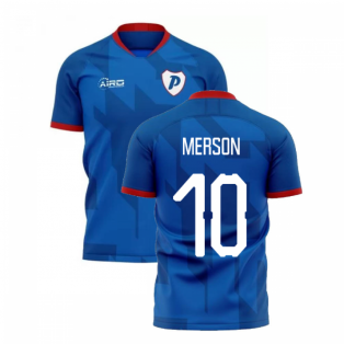 2020-2021 Portsmouth Home Concept Football Shirt (Merson 10)