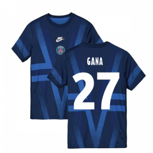 2019-2020 PSG Nike Pre-Match Training Shirt (Blue) (Gana 27)