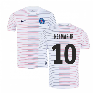 2019-2020 PSG Nike Pre-Match Training Shirt (White) - Kids (NEYMAR JR 10)