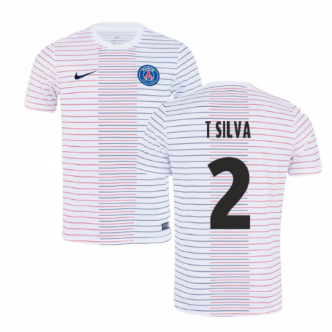 2019-2020 PSG Nike Pre-Match Training Shirt (White) - Kids (T SILVA 2)