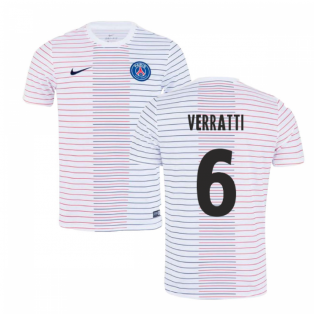 2019-2020 PSG Nike Pre-Match Training Shirt (White) - Kids (VERRATTI 6)
