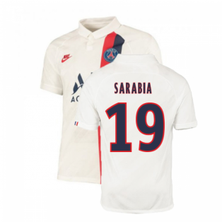 2019-2020 PSG Third Nike Shirt White (Kids) (Sarabia 19)