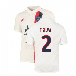 2019-2020 PSG Third Nike Shirt White (Kids) (T SILVA 2)
