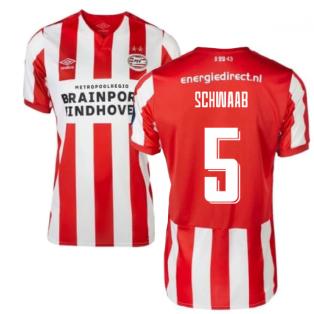 2019-2020 PSV Eindhoven Home Football Shirt (Kids) (Schwaab 5)