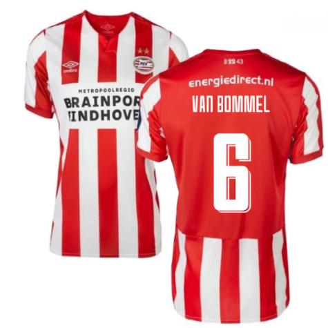2019-2020 PSV Eindhoven Home Football Shirt (Kids) (Van Bommel 6)