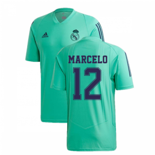 2019-2020 Real Madrid Adidas EU Training Shirt (Green) (MARCELO 12)