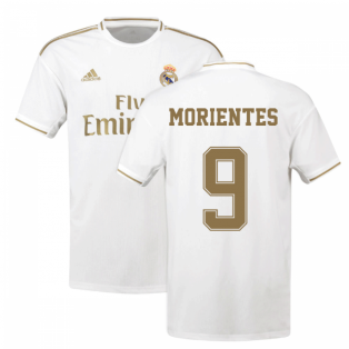 2019-2020 Real Madrid Adidas Home Football Shirt (MORIENTES 9)