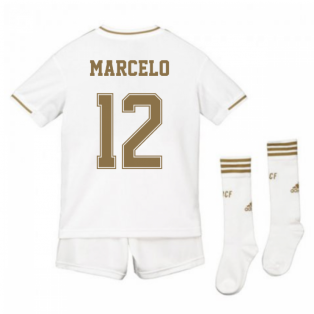 2019-2020 Real Madrid Adidas Home Full Kit (Kids) (MARCELO 12)