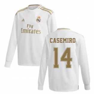 2019-2020 Real Madrid Adidas Home Long Sleeve Shirt (Kids) (CASEMIRO 14)