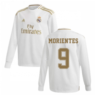 2019-2020 Real Madrid Adidas Home Long Sleeve Shirt (Kids) (MORIENTES 9)