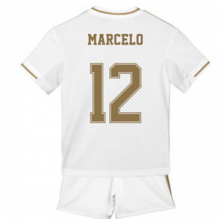 2019-2020 Real Madrid Adidas Home Mini Kit (MARCELO 12)
