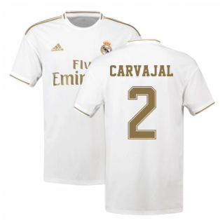 2019-2020 Real Madrid Adidas Home Shirt (Kids) (CARVAJAL 2)