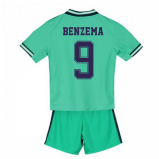 2019-2020 Real Madrid Adidas Third Mini Kit (BENZEMA 9)