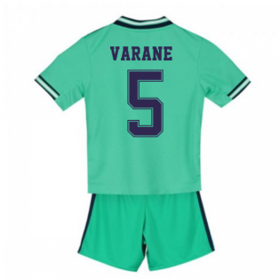2019-2020 Real Madrid Adidas Third Mini Kit (VARANE 5)
