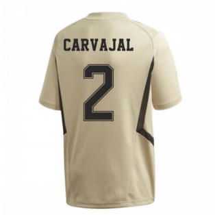 2019-2020 Real Madrid Adidas Training Shirt (Gold) (CARVAJAL 2)