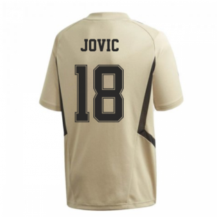 2019-2020 Real Madrid Adidas Training Shirt (Gold) (Jovic 18)