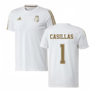 2019-2020 Real Madrid Adidas Training Tee (White) (CASILLAS 1)