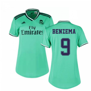 2019-2020 Real Madrid Adidas Womens Third Shirt (BENZEMA 9)