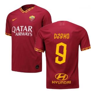 2019-2020 Roma Authentic Vapor Match Home Nike Shirt (DZEKO 9)