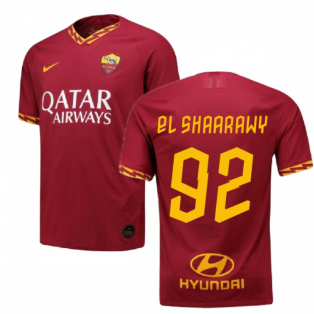 2019-2020 Roma Authentic Vapor Match Home Nike Shirt (EL SHAARAWY 92)