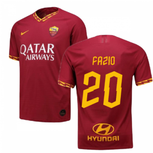 2019-2020 Roma Authentic Vapor Match Home Nike Shirt (FAZIO 20)