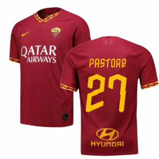 2019-2020 Roma Authentic Vapor Match Home Nike Shirt (PASTORE 27)