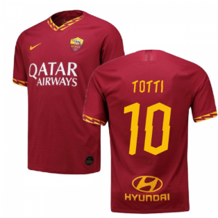 2019-2020 Roma Authentic Vapor Match Home Nike Shirt (TOTTI 10)