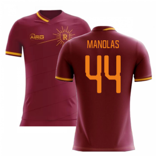 2020-2021 Roma Home Concept Football Shirt (MANOLAS 44)