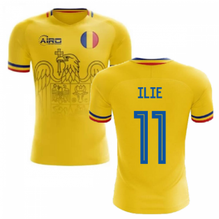 2020-2021 Romania Home Concept Football Shirt (Ilie 11)