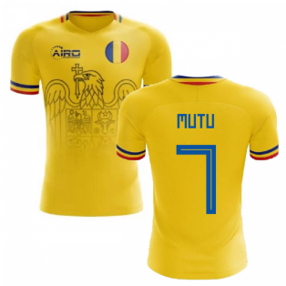 2019-2020 Romania Home Concept Football Shirt (Mutu 7)