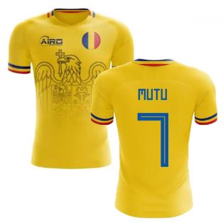 2020-2021 Romania Home Concept Football Shirt (Mutu 7)