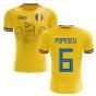2020-2021 Romania Home Concept Football Shirt (Popescu 6)