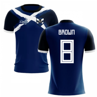 2019-2020 Scotland Flag Concept Football Shirt (Brown 8)