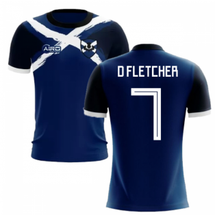 2019-2020 Scotland Flag Concept Football Shirt (D Fletcher 7)