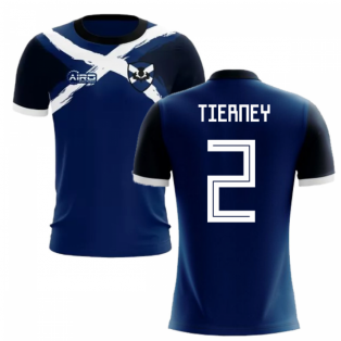 2019-2020 Scotland Flag Concept Football Shirt (Tierney 2) - Kids