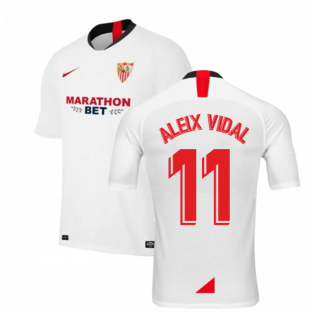 2019-2020 Sevilla Home Nike Football Shirt (ALEIX VIDAL 11)