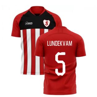 2020-2021 Southampton Home Concept Football Shirt (LUNDEKVAM 5)