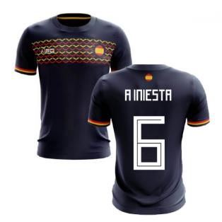 2019-2020 Spain Away Concept Football Shirt (A Iniesta 6)