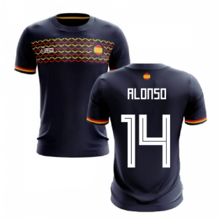 2019-2020 Spain Away Concept Football Shirt (Alonso 14)