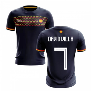 2020-2021 Spain Away Concept Football Shirt (David Villa 7)