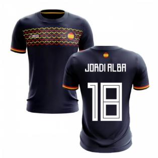 2020-2021 Spain Away Concept Football Shirt (Jordi Alba 18)