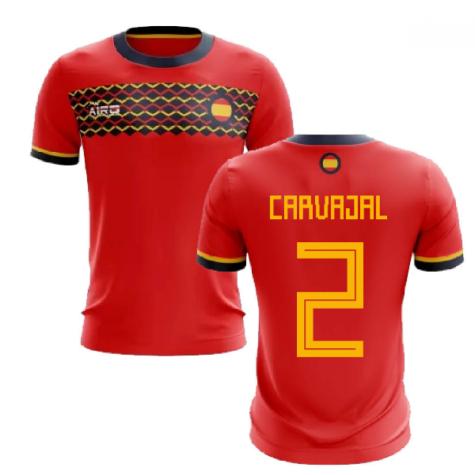 2020-2021 Spain Home Concept Football Shirt (Carvajal 2)