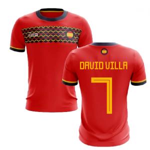 2019-2020 Spain Home Concept Football Shirt (David Villa 7)