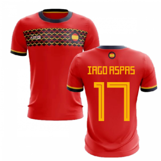 2019-2020 Spain Home Concept Football Shirt (Iago Aspas 17)